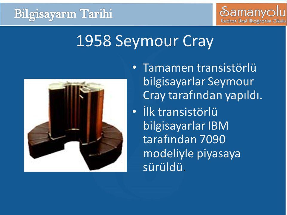 1958 Seymour Cray Bilgisayarın Tarihi