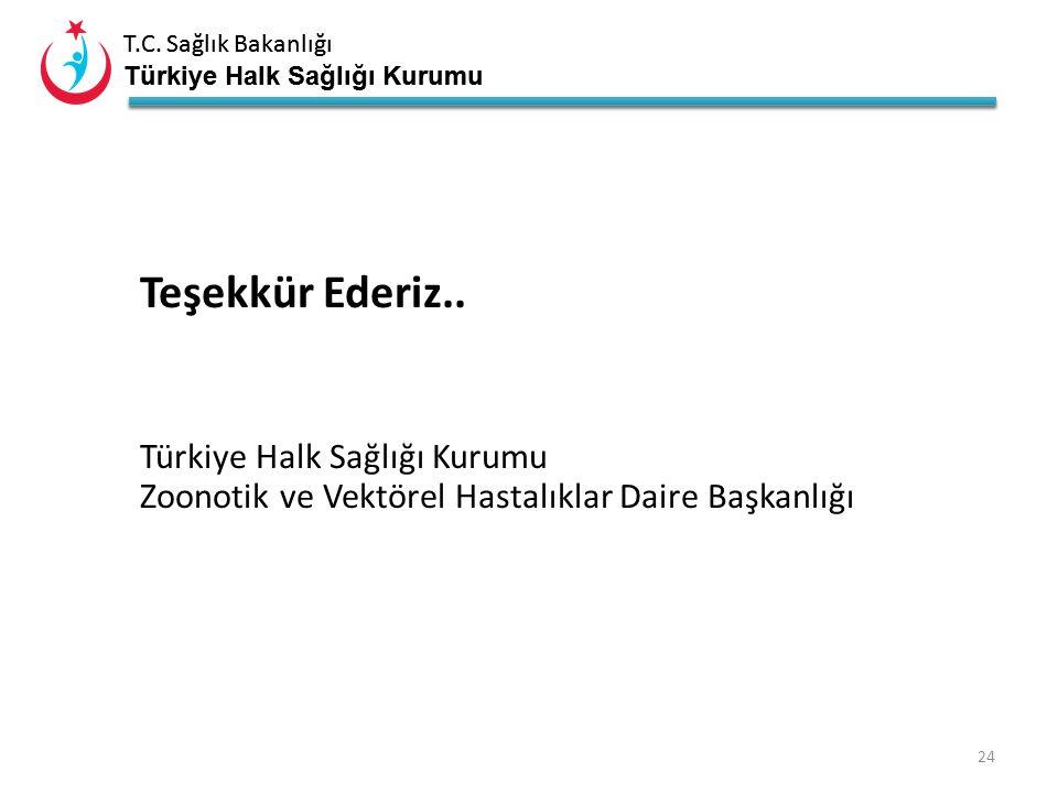 Teşekkür Ederiz.. Türkiye Halk Sağlığı Kurumu Zoonotik ve Vektörel Hastalıklar Daire Başkanlığı
