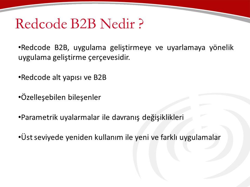 Redcode B2B Nedir Redcode B2B, uygulama geliştirmeye ve uyarlamaya yönelik uygulama geliştirme çerçevesidir.