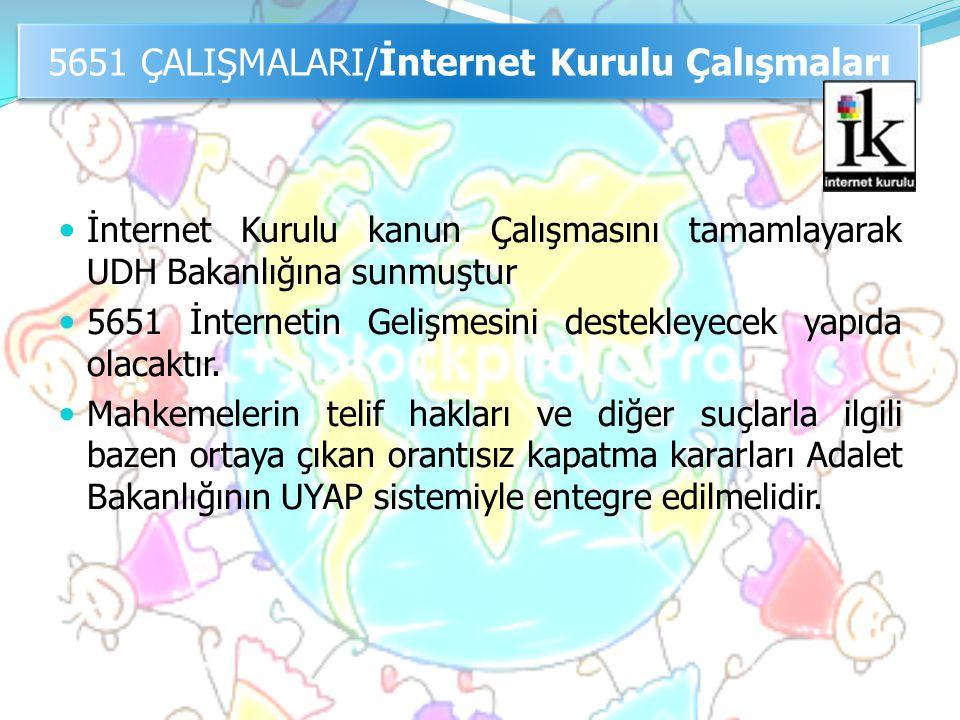 5651 ÇALIŞMALARI/İnternet Kurulu Çalışmaları