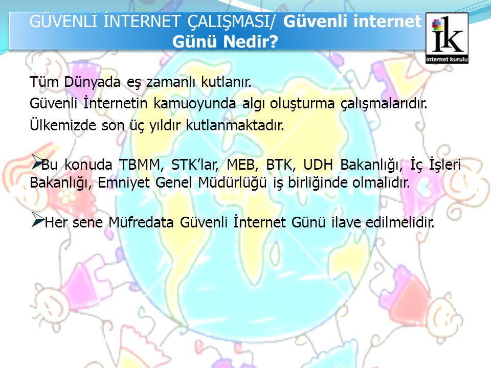 GÜVENLİ İNTERNET ÇALIŞMASI/ Güvenli internet Günü Nedir