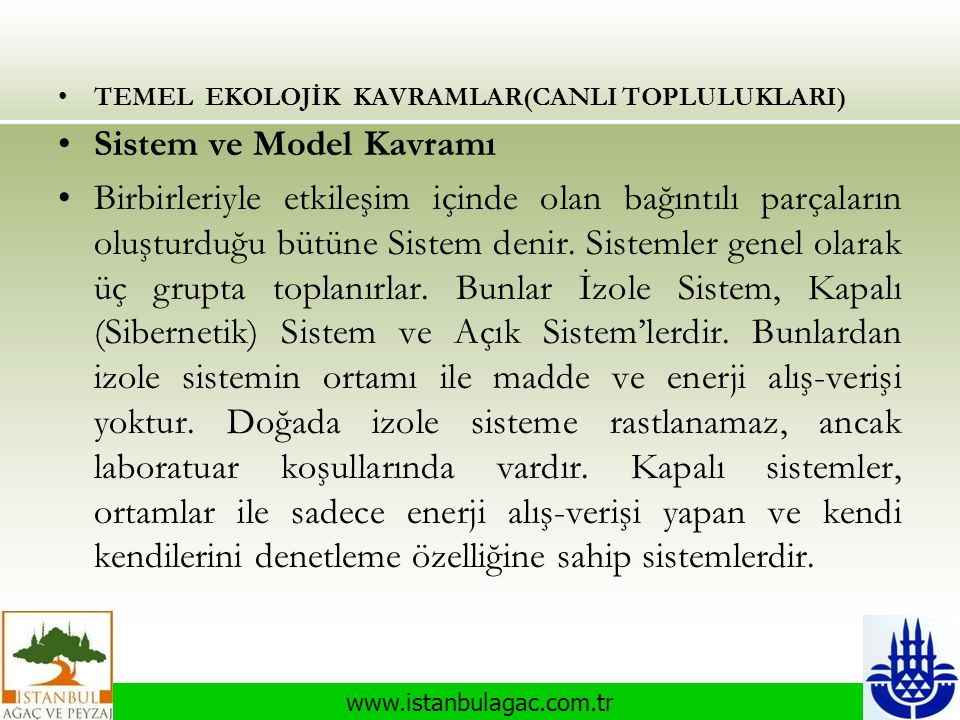 Sistem ve Model Kavramı