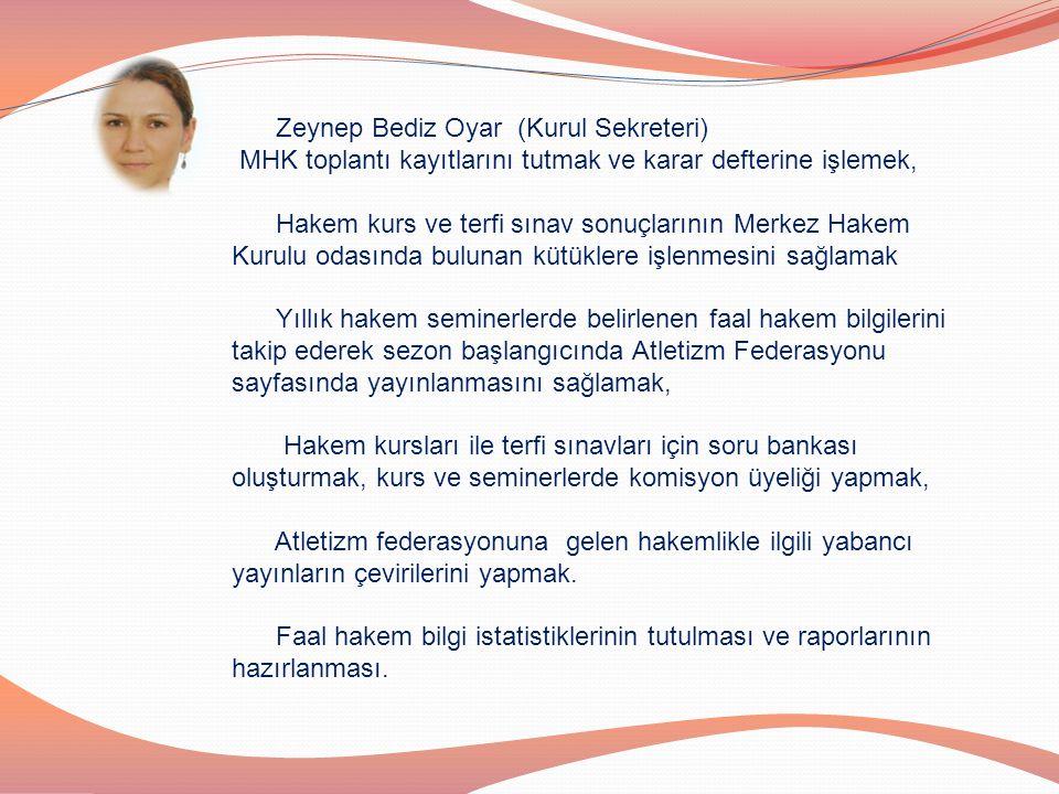 Zeynep Bediz Oyar (Kurul Sekreteri)
