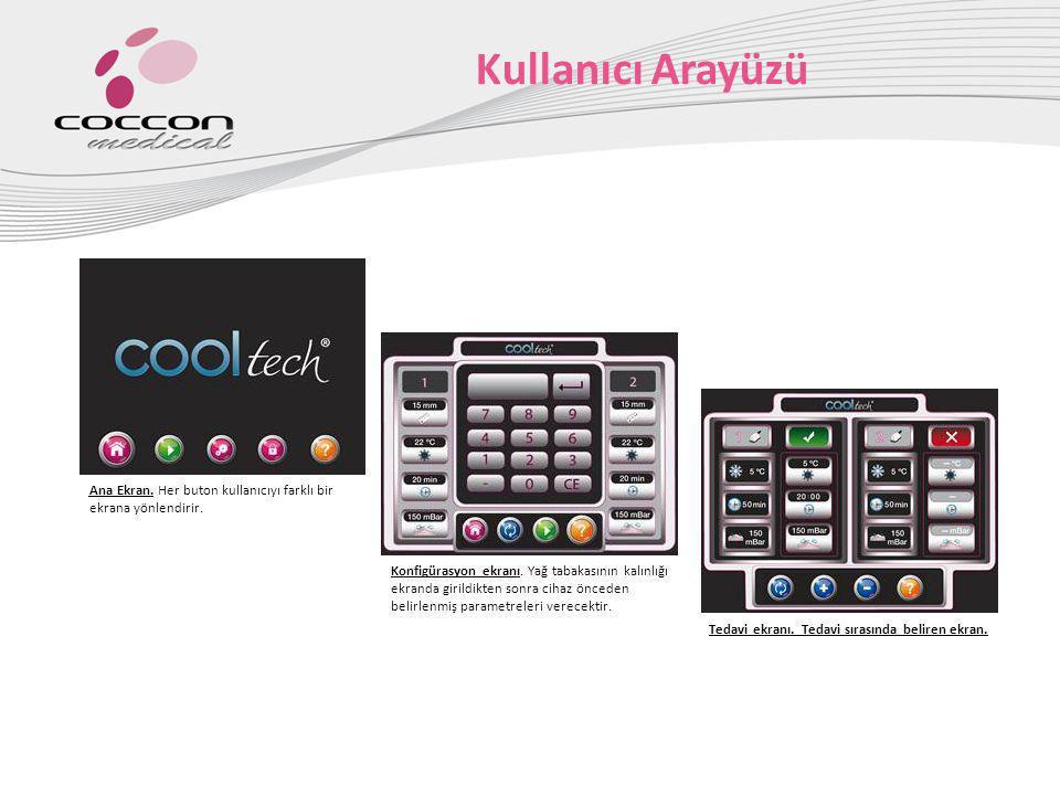 Kullanıcı Arayüzü Ana Ekran. Her buton kullanıcıyı farklı bir ekrana yönlendirir.