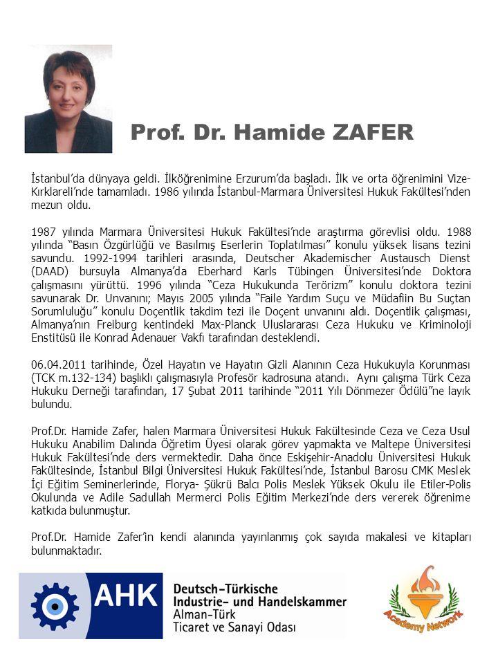 Prof. Dr. Hamide ZAFER
