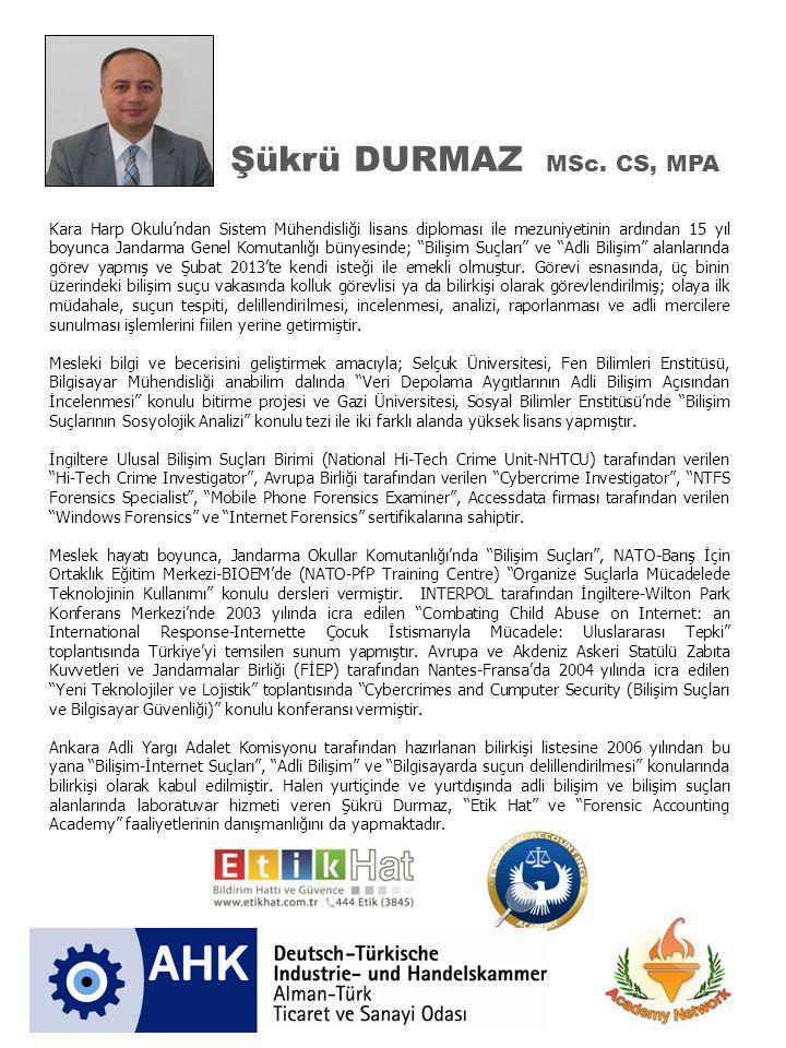 Şükrü DURMAZ MSc. CS, MPA