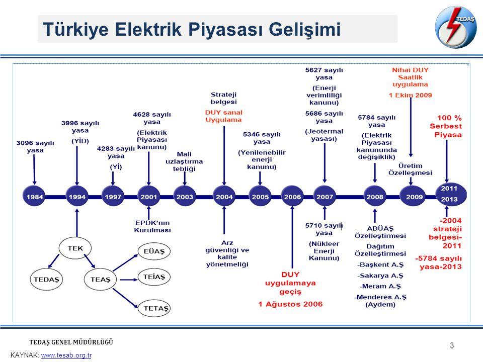 Türkiye Elektrik Piyasası Gelişimi
