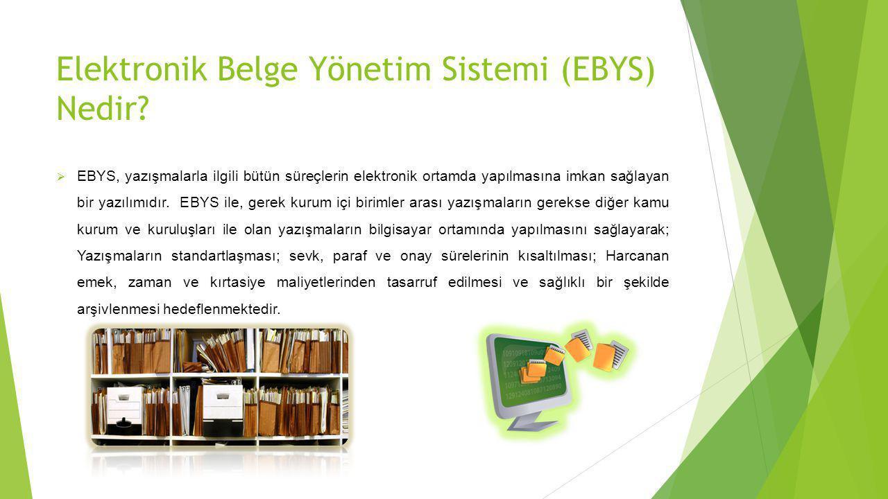 Elektronik Belge Yönetim Sistemi (EBYS) Nedir