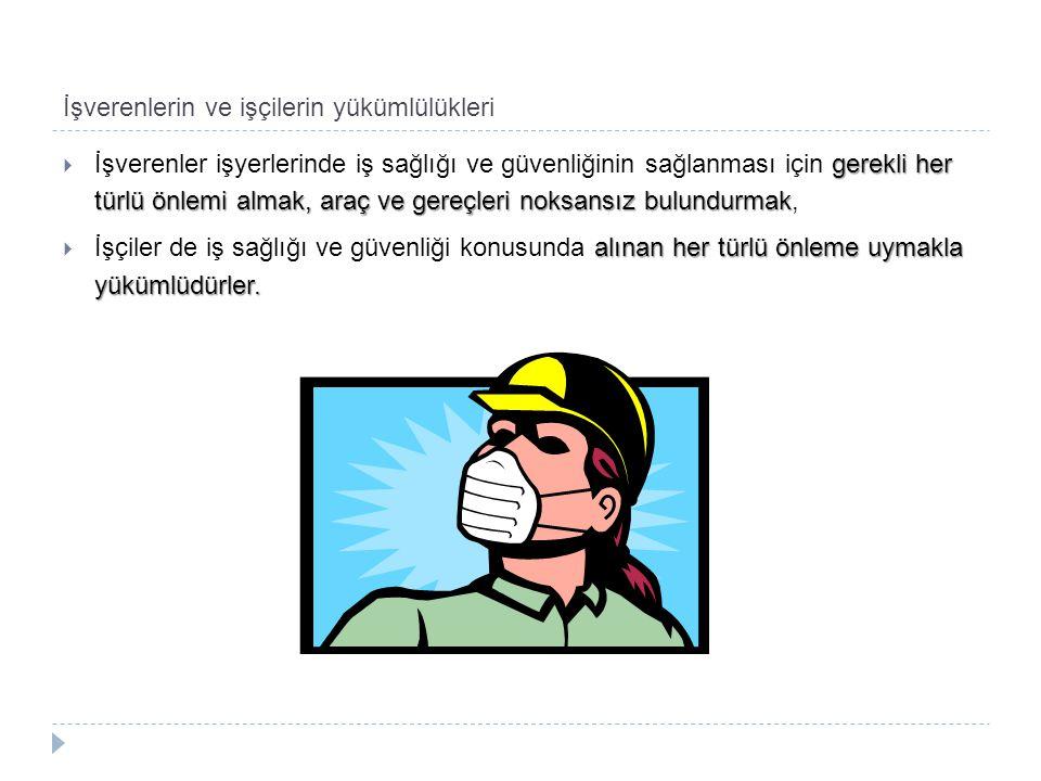 İşverenlerin ve işçilerin yükümlülükleri