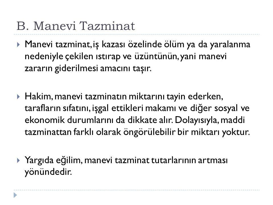 B. Manevi Tazminat