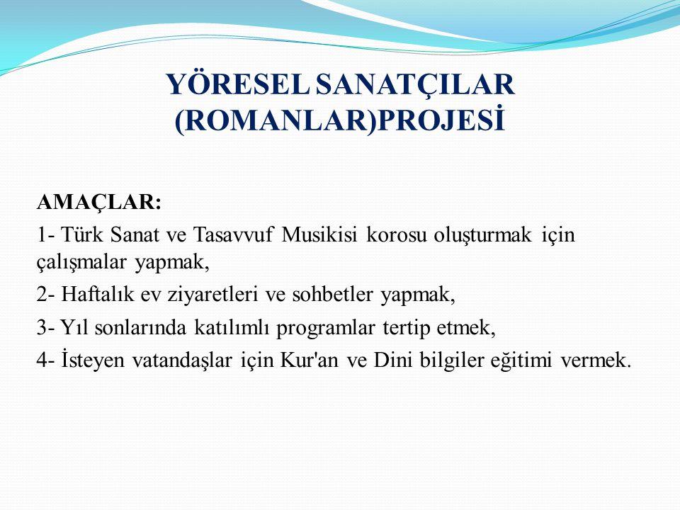 YÖRESEL SANATÇILAR (ROMANLAR)PROJESİ