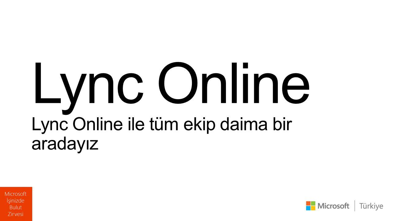 Lync Online Lync Online ile tüm ekip daima bir aradayız