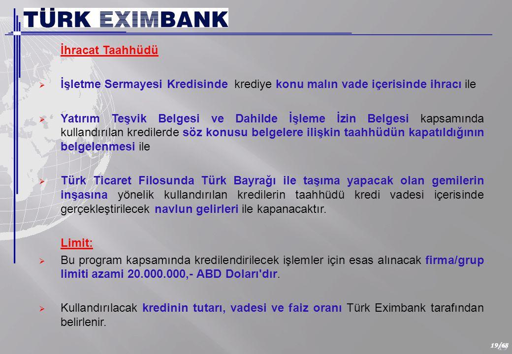 Kredi ABD Doları ve EURO cinsinden kullandırılmaktadır.