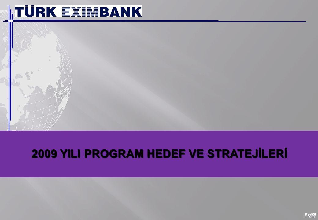 TÜRK EXİMBANK'IN 2009 YILINDA İHRACAT SEKTÖRÜNE SAĞLAMAYI PLANLADIĞI DESTEK