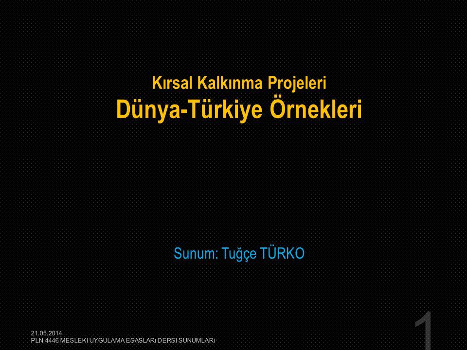 Kırsal Kalkınma Projeleri Dünya-Türkiye Örnekleri