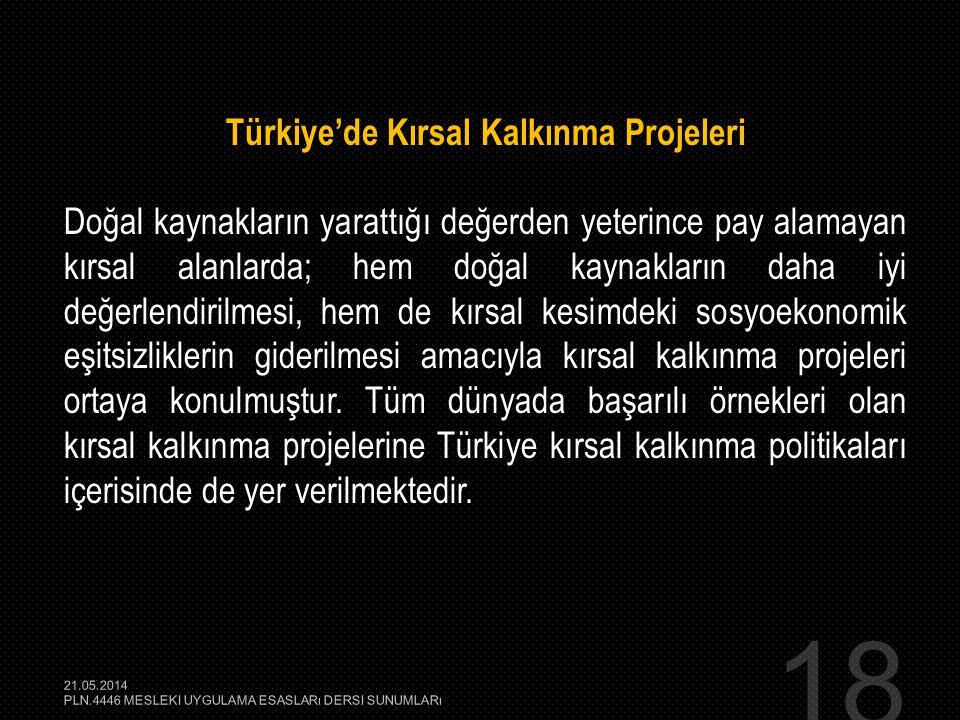 Türkiye'de Kırsal Kalkınma Projeleri