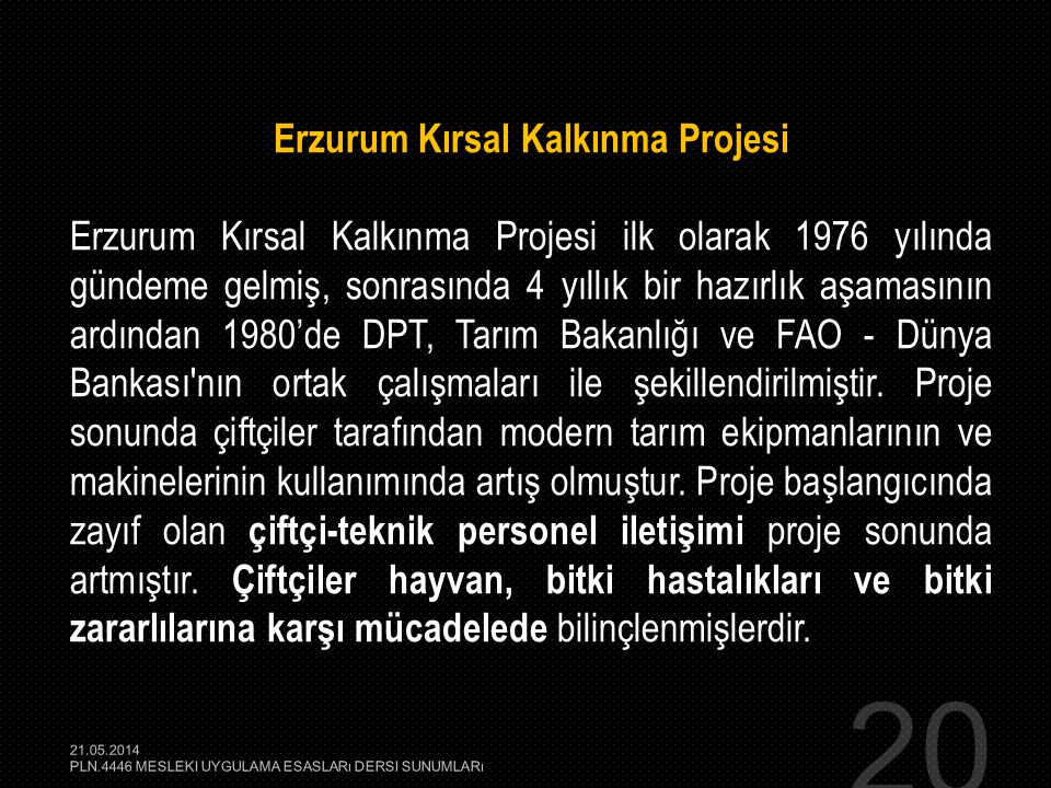 Erzurum Kırsal Kalkınma Projesi