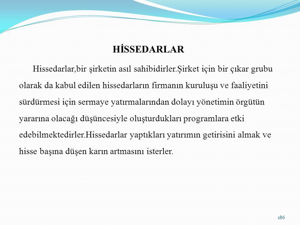 HİSSEDARLAR