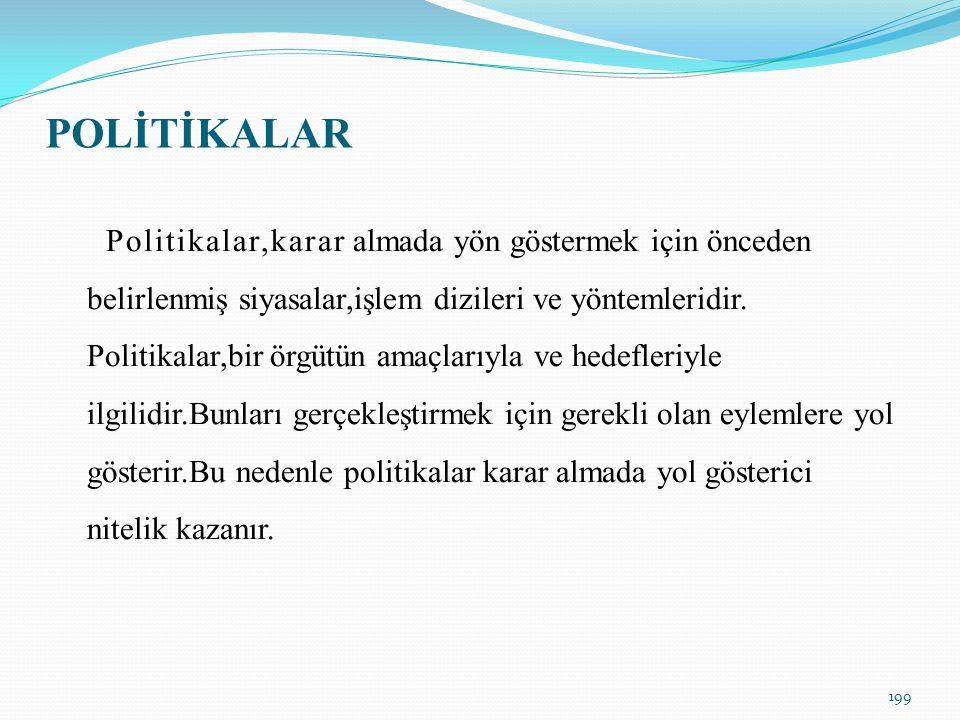 POLİTİKALAR