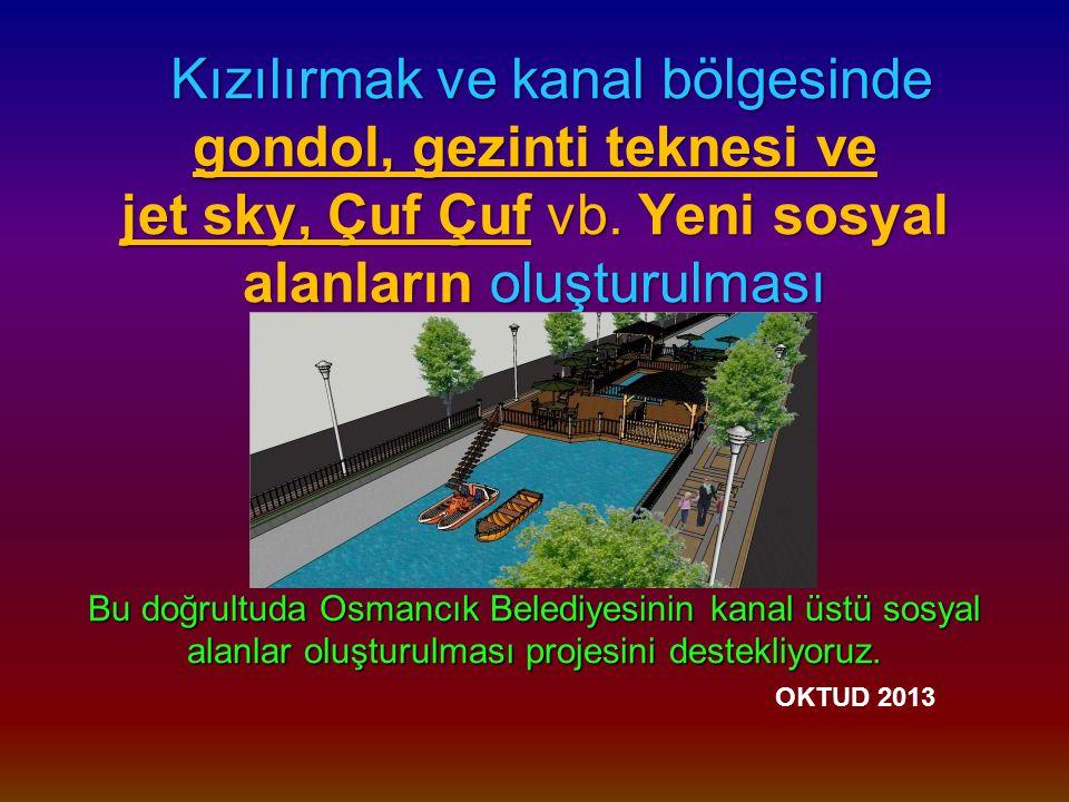Kızılırmak ve kanal bölgesinde gondol, gezinti teknesi ve jet sky, Çuf Çuf vb.