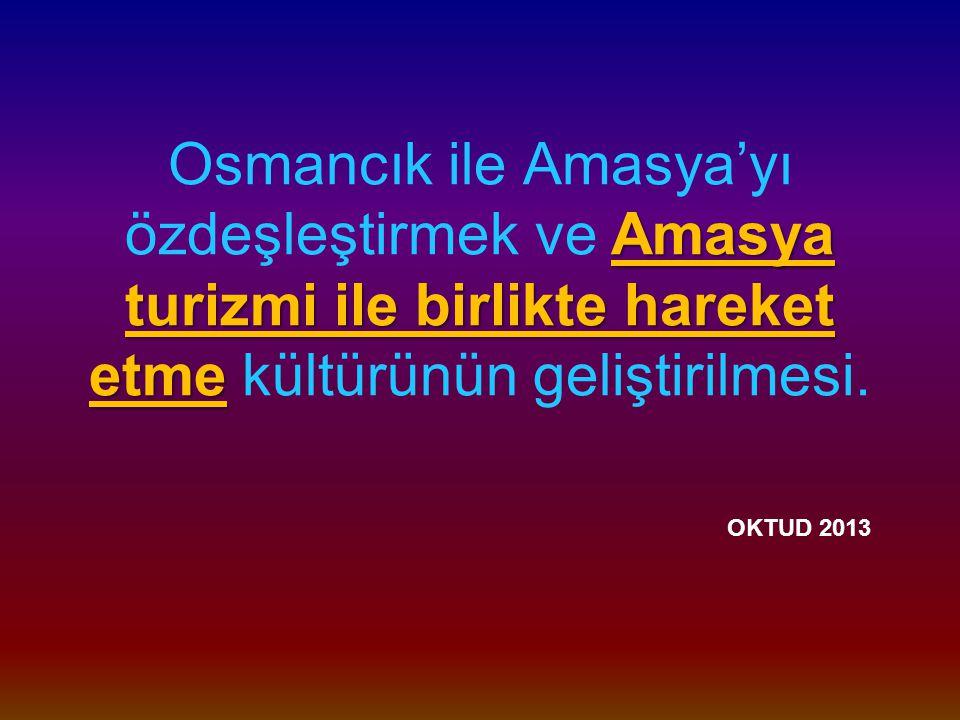 Osmancık ile Amasya'yı özdeşleştirmek ve Amasya turizmi ile birlikte hareket etme kültürünün geliştirilmesi.