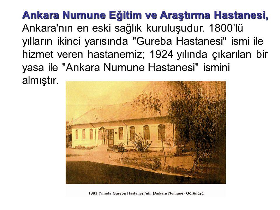 Ankara Numune Eğitim ve Araştırma Hastanesi,