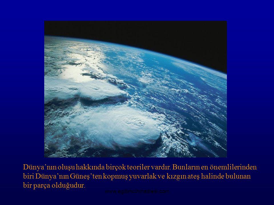 Dünya'nın oluşu hakkında birçok teoriler vardır