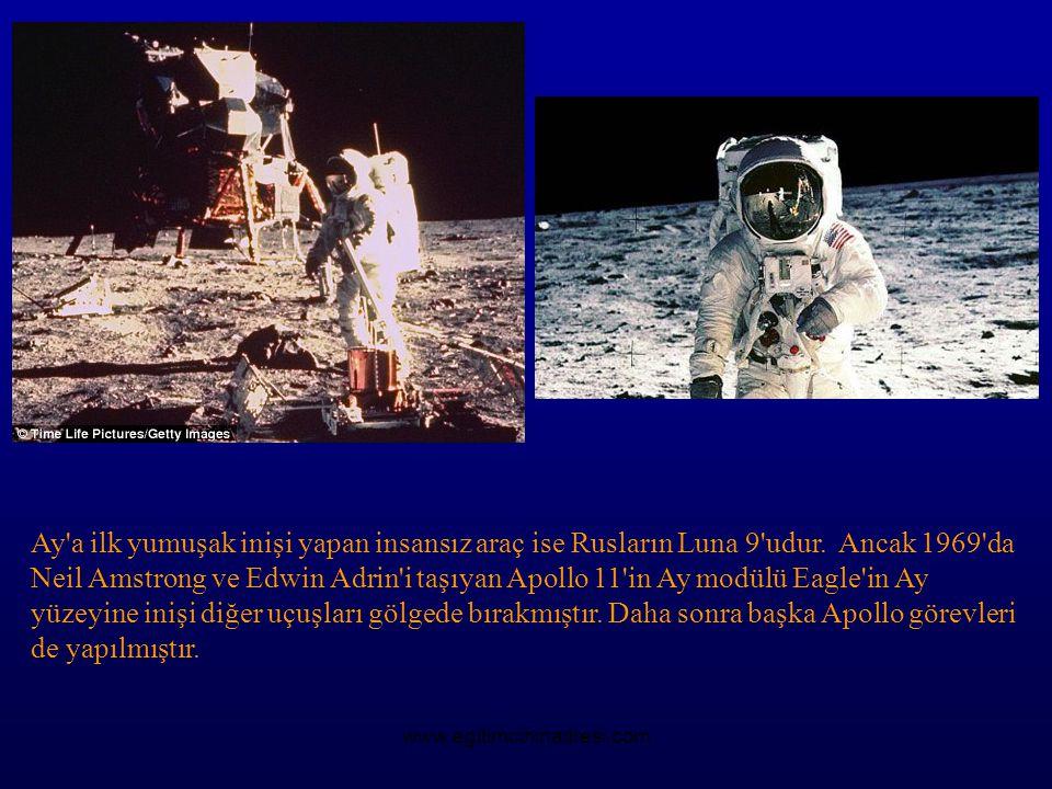 Ay a ilk yumuşak inişi yapan insansız araç ise Rusların Luna 9 udur