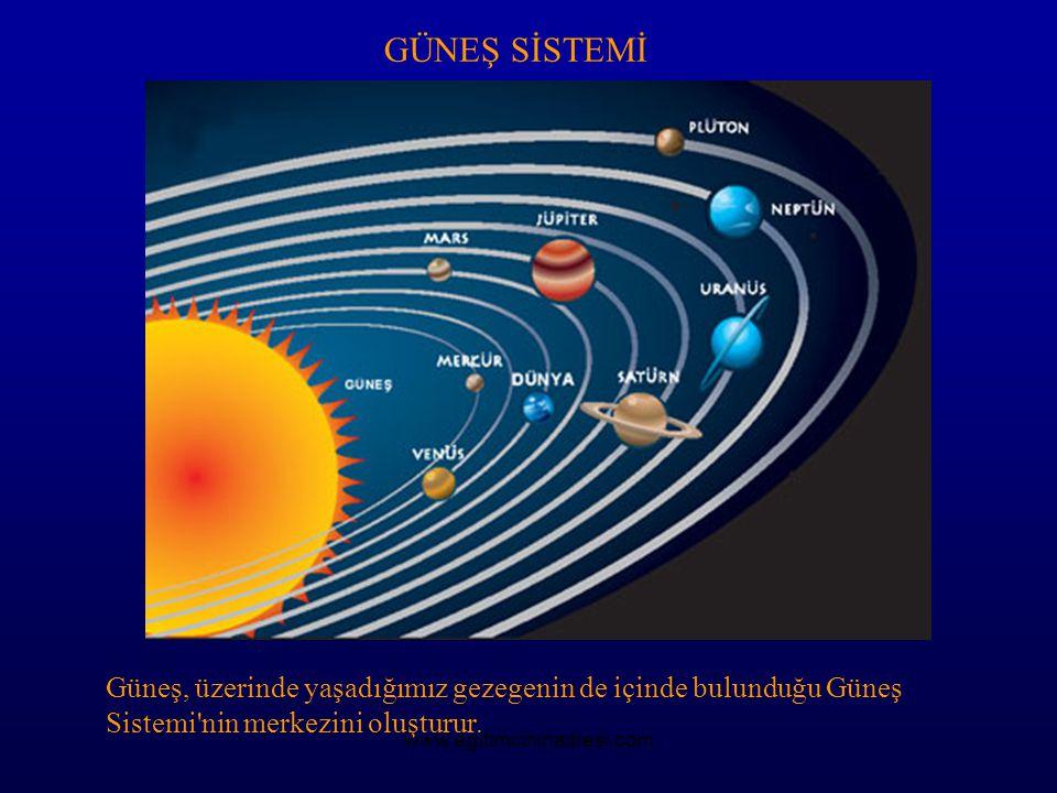 GÜNEŞ SİSTEMİ Güneş, üzerinde yaşadığımız gezegenin de içinde bulunduğu Güneş Sistemi nin merkezini oluşturur.