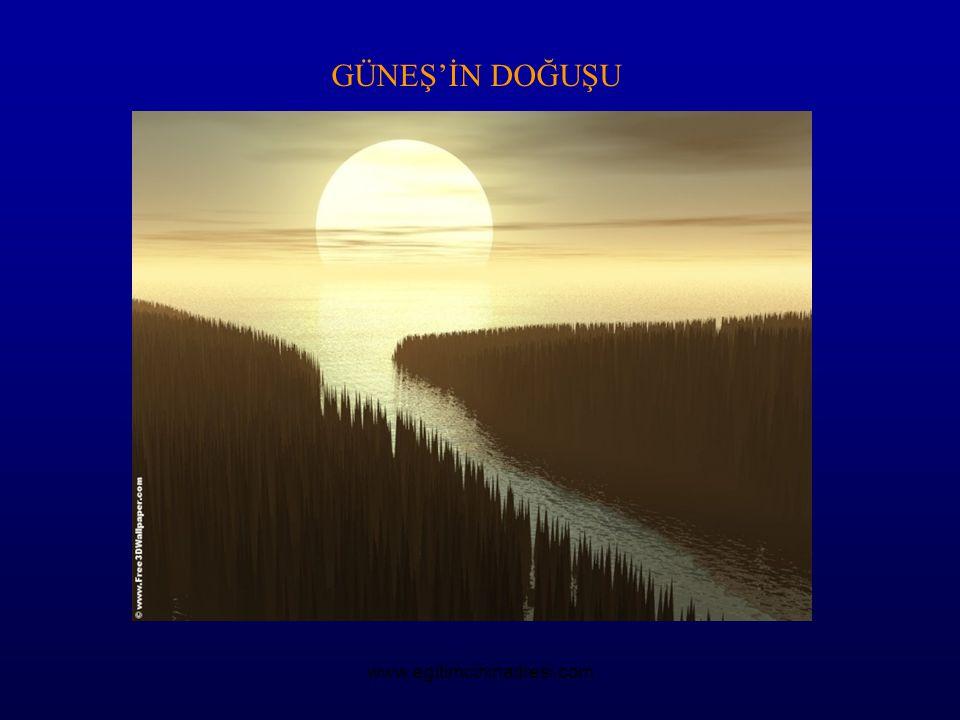 GÜNEŞ'İN DOĞUŞU www.egitimcininadresi.com