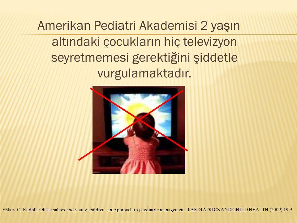 Amerikan Pediatri Akademisi 2 yaşın altındaki çocukların hiç televizyon seyretmemesi gerektiğini şiddetle vurgulamaktadır.