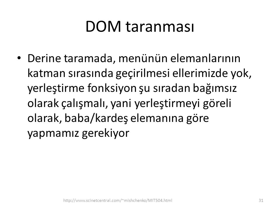 DOM taranması