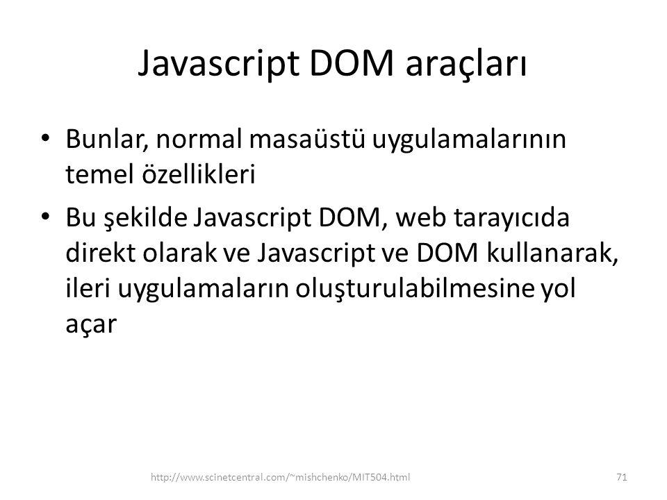 Javascript DOM araçları