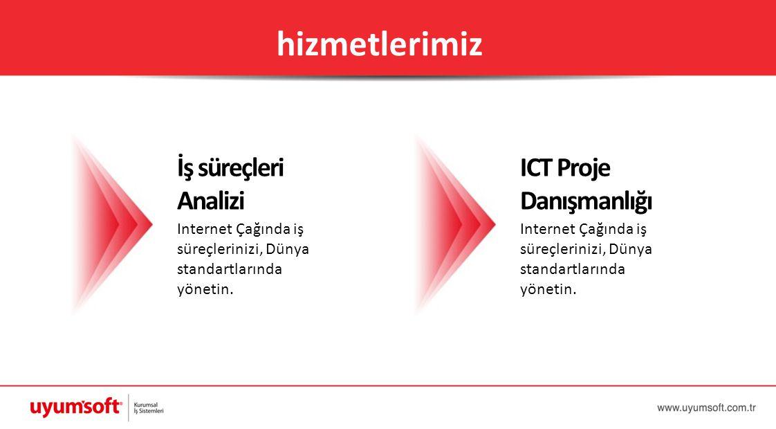hizmetlerimiz İş süreçleri Analizi ICT Proje Danışmanlığı