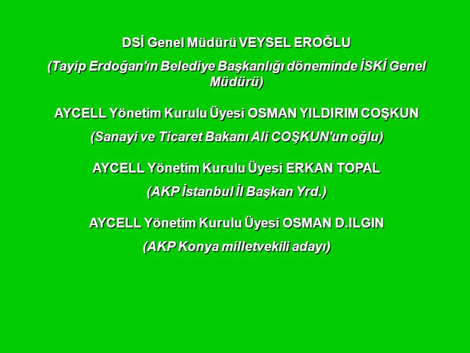 DSİ Genel Müdürü VEYSEL EROĞLU (AKP Konya milletvekili adayı)