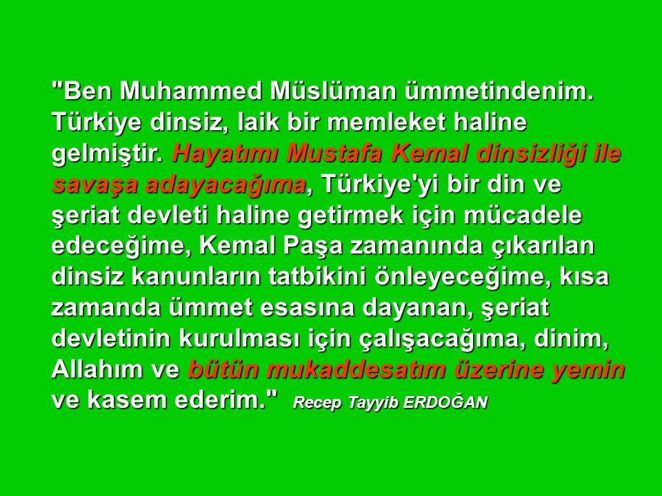 Ben Muhammed Müslüman ümmetindenim
