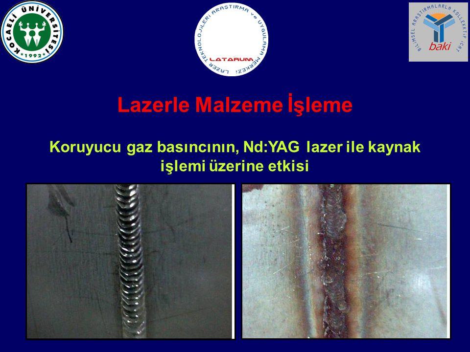 Koruyucu gaz basıncının, Nd:YAG lazer ile kaynak işlemi üzerine etkisi