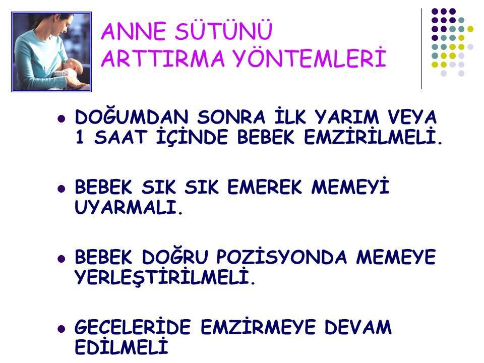 ANNE SÜTÜNÜ ARTTIRMA YÖNTEMLERİ