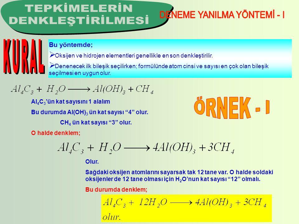 DENEME YANILMA YÖNTEMİ - I