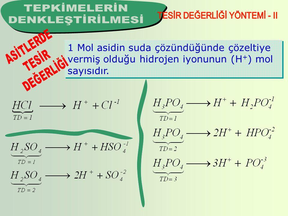 TESİR DEĞERLİĞİ YÖNTEMİ - II