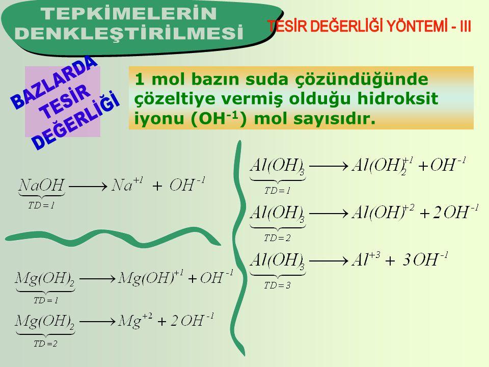 TESİR DEĞERLİĞİ YÖNTEMİ - III