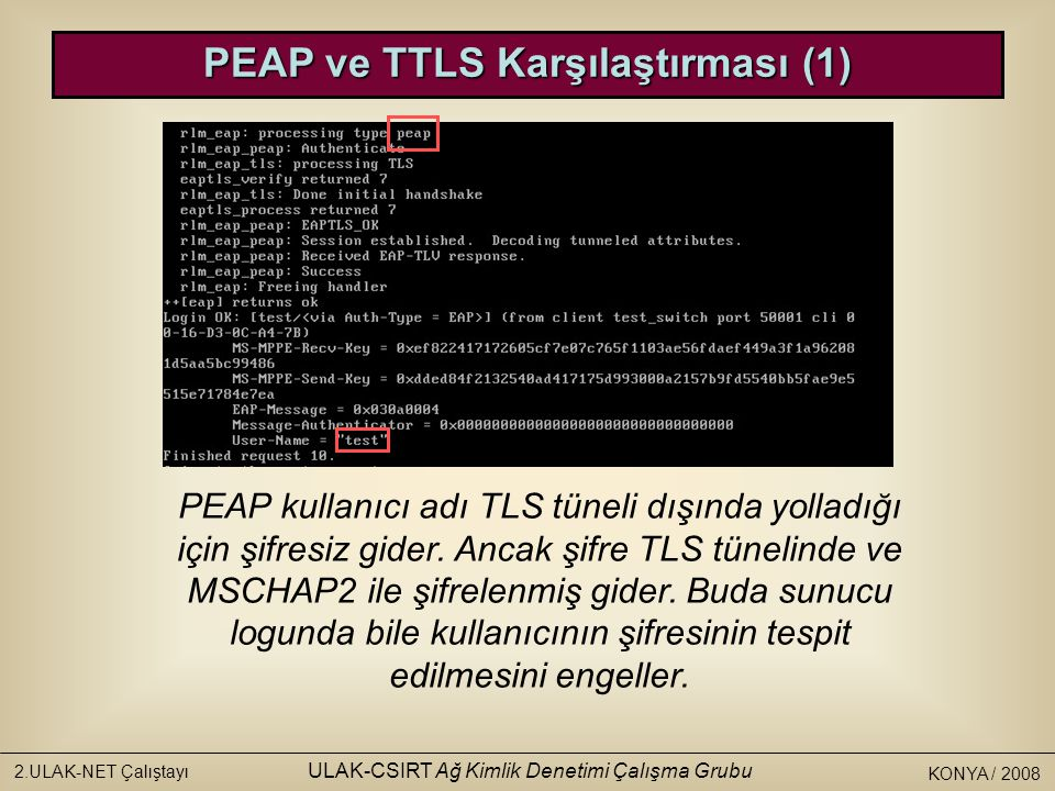 PEAP ve TTLS Karşılaştırması (1)