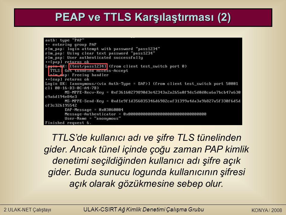 PEAP ve TTLS Karşılaştırması (2)
