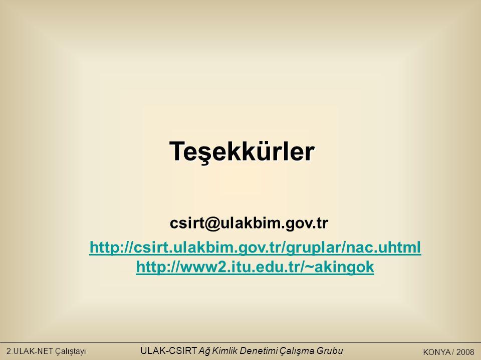 ULAK-CSIRT Ağ Kimlik Denetimi Çalışma Grubu