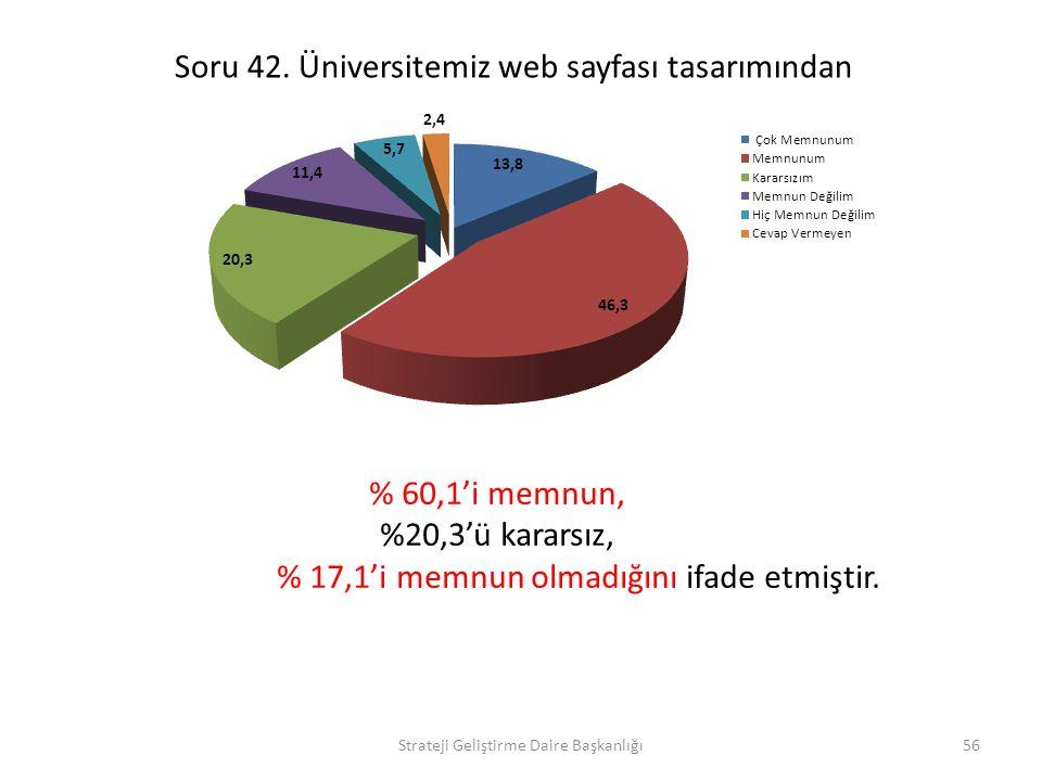 Soru 42. Üniversitemiz web sayfası tasarımından
