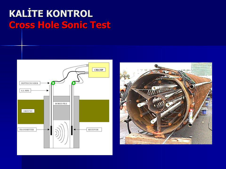KALİTE KONTROL Cross Hole Sonic Test
