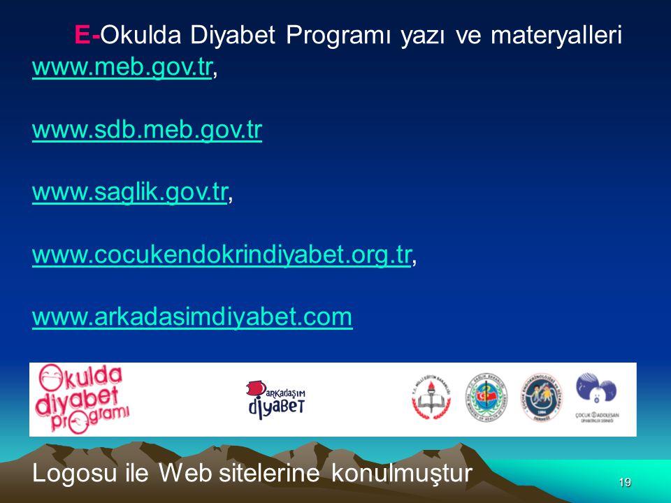 E-Okulda Diyabet Programı yazı ve materyalleri
