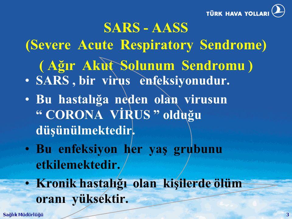 SARS - AASS (Severe Acute Respiratory Sendrome) ( Ağır Akut Solunum Sendromu )