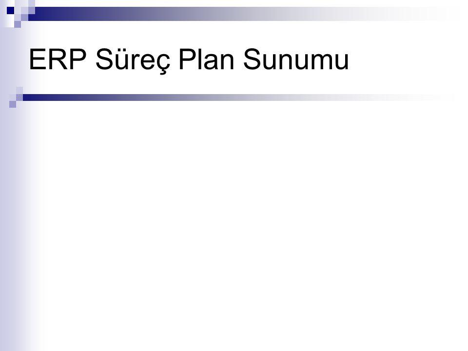 ERP Süreç Plan Sunumu
