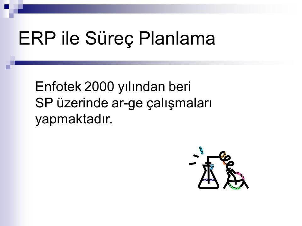 ERP ile Süreç Planlama Enfotek 2000 yılından beri